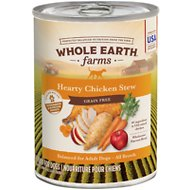 Whole Earth Farms Grain-Free Hearty Chicken Stew Canned Dog Food, 12.7-oz, case of 12