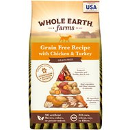 Whole Earth Farms Grain-Free Chicken & Turkey Recipe Dry Dog Food, 25-lb bag