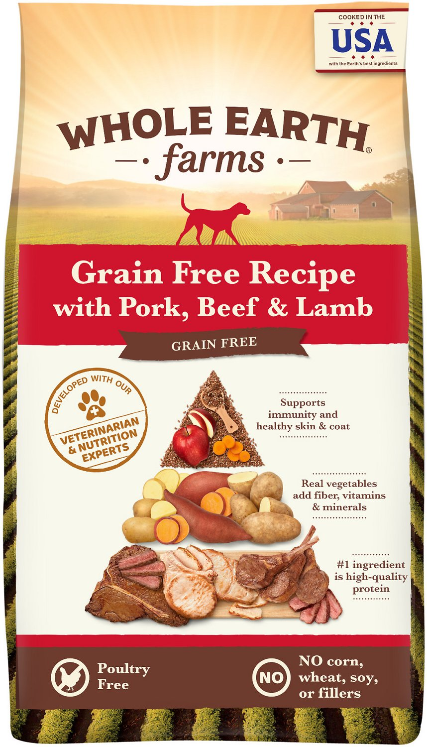 Whole Earth Farms Grain-Free Pork, Beef, & Lamb Recipe