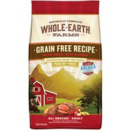 Whole Earth Farms Grain-Free Pork, Beef & Lamb Recipe Dry Dog Food, 12-lb bag