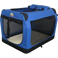 GoPetClub Soft Portable Pet Carrier, Blue, 40-inch