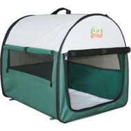 GoPetClub Soft Portable Pet Home, Green, 18-inch