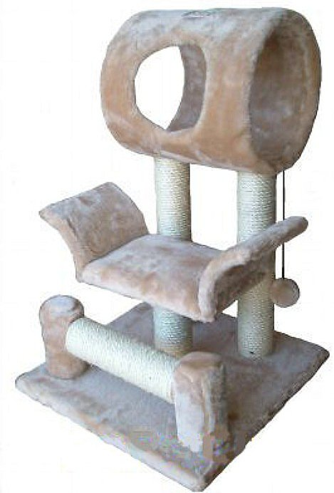 Gopetclub 28 in cat tree beige for Build your own cat scratch tower