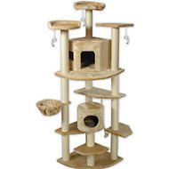 GoPetClub 80-inch Cat Tree, Beige