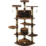 GoPetClub 80-in Cat Tree, Brown