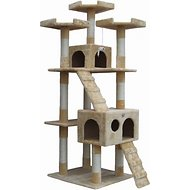 GoPetClub 72-inch Cat Tree, Beige