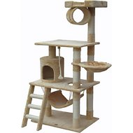 GoPetClub 62-in Cat Tree, Beige
