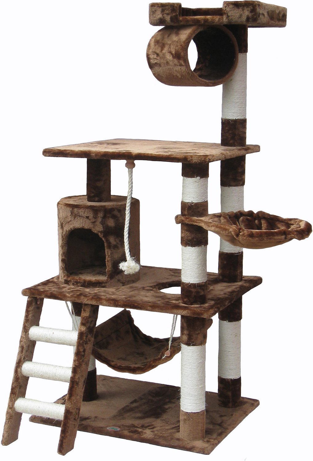 gopetclub 62 inch cat tree brown. Black Bedroom Furniture Sets. Home Design Ideas