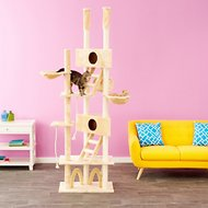 GoPetClub 106-inch Cat Tree, Beige