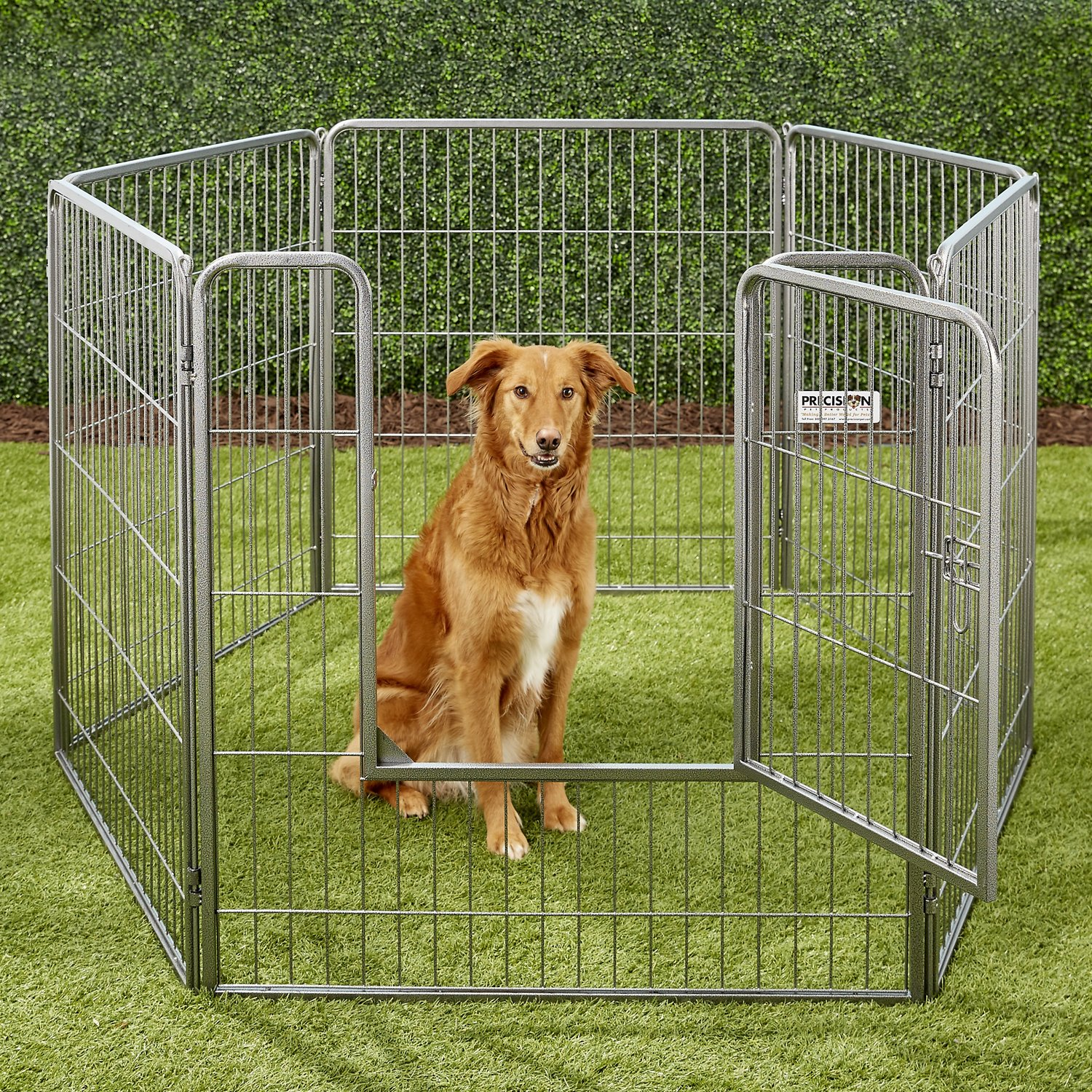 precision pet products courtyard kennel exercise pen 38in chewycom