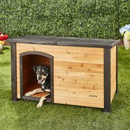 Precision Pet Products Extreme Outback Log Cabin Dog House, Medium