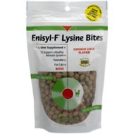 Vetoquinol Enisyl-F Lysine Bites Chicken Liver Flavored Cat Treats, 6.35-oz bag