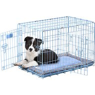 Precision Pet Products SnooZZy Baby Wire Crate, Blue, 24-in blue