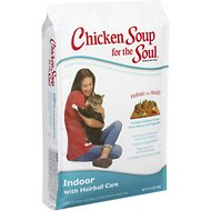 Chicken Soup for the Soul Indoor with Hairball Care Dry Cat Food, 15-lb bag