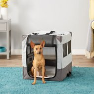MidWest Canine Camper Sportable Tent Dog Crate, 24-in