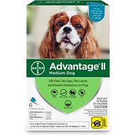 Advantage II Flea Treatment for Medium Dogs, 11-20 lbs, 6 treatments