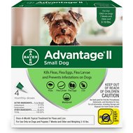 Advantage II Flea Treatment for Dogs, 3-10 lbs, 4 treatments