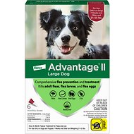Advantage II Flea Treatment for Dogs, 21-55 lbs, 6 treatments
