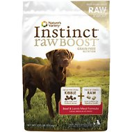 Nature's Variety Instinct Raw Boost Grain-Free Beef & Lamb Meal Formula Dry Dog Food, 23.5-lb bag