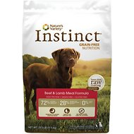 Nature's Variety Instinct Grain-Free Beef & Lamb Meal Formula Dry Dog Food, 25.3-lb bag