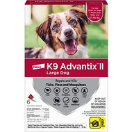 K9 Advantix II Flea & Tick Treatment for Large Dogs, 21-55 lbs, 6 treatments