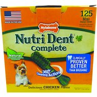 Nylabone Nutri Dent Complete Chicken Flavor Dental Dog Chews - Mini, 125 count