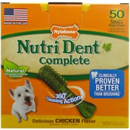 Nylabone Nutri Dent Complete Chicken Flavor Dental Dog Chews - Small, 50 count