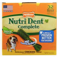 Nylabone Nutri Dent Complete Chicken Flavor Dental Dog Chews - Medium, 32 count