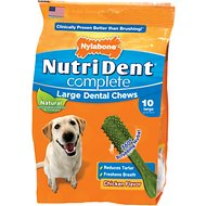 Nylabone Nutri Dent Complete Chicken Flavor Dental Dog Chews - Large, 10 count