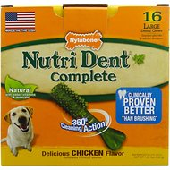 Nylabone Nutri Dent Complete Chicken Flavor Dental Dog Chews - Large, 16 count