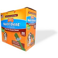 Nylabone Nutri Dent Complete Grain-Free Peanut Butter Flavor Dental Dog Chews - Medium, 26 count