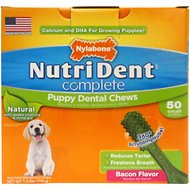 Nylabone Nutri Dent Complete Puppy Bacon Flavor Dental Dog Chews - Small, 50 count
