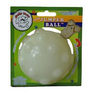 Jolly Pets Jolly Jumper Ball Dog Toy, Glow, 3-in