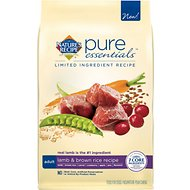 Nature's Recipe Pure Essentials Limited Ingredient Adult Lamb & Brown Rice Recipe Dry Dog Food, 4-lb bag