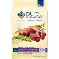 Nature's Recipe Pure Essentials Limited Ingredient Adult Lamb & Brown Rice Recipe Dry Dog Food, 24-lb bag