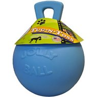 Jolly Pets Tug-n-Toss Dog Toy, Blueberry, 6-in