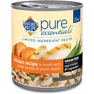 Nature's Recipe Pure Essentials Limited Ingredient Grain-Free Chicken with Sweet Potato & Green Beans Recipe in Broth Canned Dog Food, 10-oz, case of 24