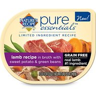 Nature's Recipe Pure Essentials Limited Ingredient Grain-Free Lamb with Sweet Potato & Green Beans Recipe in Broth Canned Dog Food, 2.75-oz, case of 24