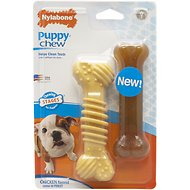Nylabone Puppy Twin Pack Wolf Dura/Flexi Combo Puppy Chew Toy, Medium