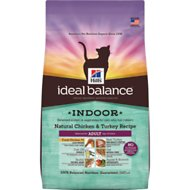 Hill's Ideal Balance Indoor Natural Chicken & Turkey Recipe Adult Dry Cat Food, 7-lb bag
