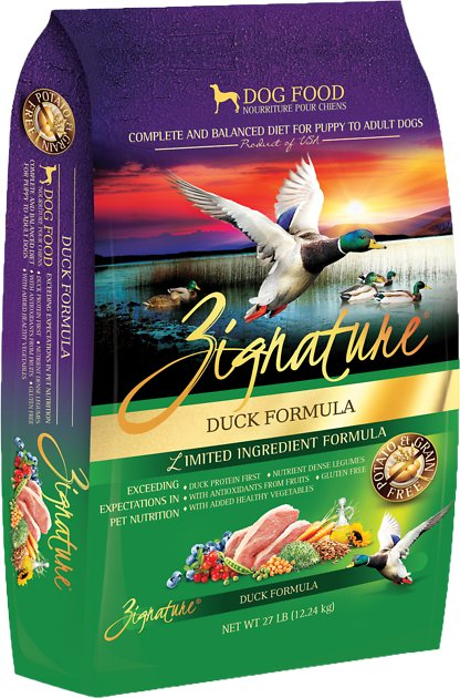 Zignature Duck Limited Ingredient Formula Grain Free Dry