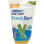 Nylabone Advanced Oral Care Fresh Breath Bar Dog Chews, 8 count