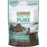 CANIDAE Grain-Free PURE Taste with Fresh Salmon Cat Treats, 3-oz bag