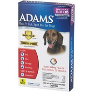 Adams Flea & Tick Spot On for Dogs Refill (3-Month Supply), Small