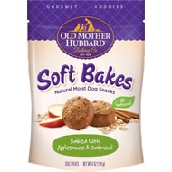 Old Mother Hubbard Gourmet Goodies Soft Bakes with Applesauce & Oatmeal Moist Baked Dog Treats, 6-oz bag