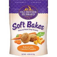 Old Mother Hubbard Gourmet Goodies Soft Bakes with Carrots & Pumpkin Moist Baked Dog Treats, 6-oz bag