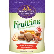 Old Mother Hubbard Gourmet Goodies Fruit'ins with Honey, Apple & Bacon Duo-Layered Baked Dog Treats, 6-oz bag