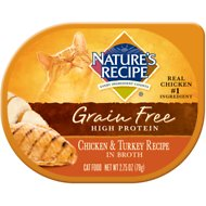 Nature's Recipe Grain-Free Chicken & Turkey Recipe in Broth Wet Cat Food, 2.75-oz, case of 24