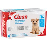 Dogit Clean Disposable Diapers, Small