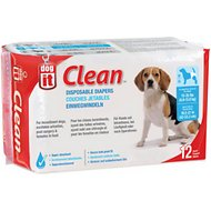 Dogit Clean Disposable Diapers, Medium